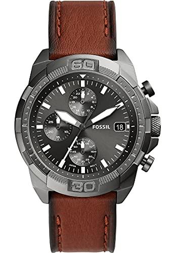 Fossil Herren-Uhren Analog Quarz One Size Grau 32018287