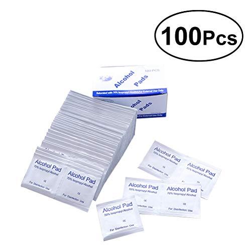 Yardwe 100 unids Desechable Esterilización Médica Desinfección con Alcohol Pieza de Algodón Láminas de Algodón de Esterilización de Limpieza para el Hogar Al Aire Libre Primeros Auxilios
