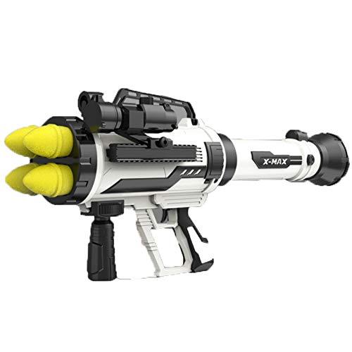 YUN Pistola Giocattolo Elettrico,Blaster con dardi per Bambini da 8 Anni in su ,Blaster con Dardi, Multicolore (Color : White)