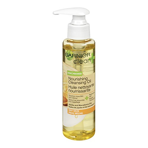 Garnier Clean+ Nourishing Cleansing Oil For Dry Skin, 4.2 Fluid Ounces
