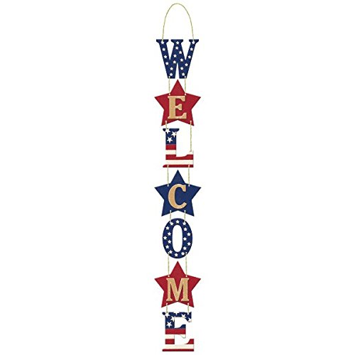 "Americana Welcome Party Sign, 28"" x 4"""