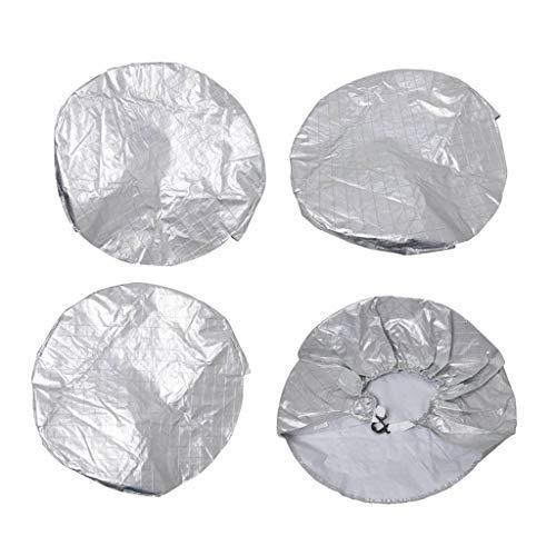 4 Pcs Reifentaschen, RV Reifenschutzhülle, Sonnenschutz Reifen Abdeckungen