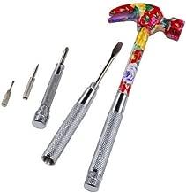 EnkayToolbox - 6 in 1 Silk Flower Hammer & Screwdriver Tool for Her [Colors May Vary]