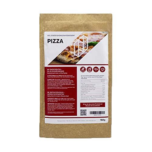 Neosupps Pizzamischung Pizza Teig 250g | Low Carb Pizzateig | Hoher Proteingehalt für Muskelmasse | Wenig Kohlenhydrate zum Abnehmen | Blitzschnelle Zubereitung, Gewicht:150g