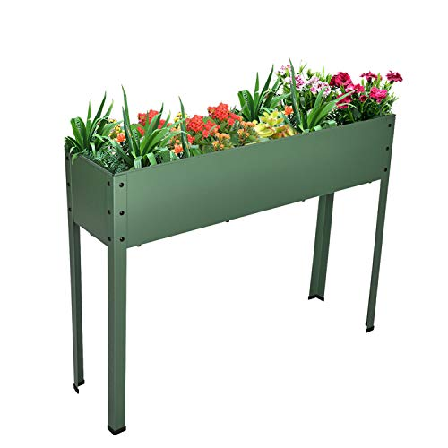 Elevated Planters and Raised Garden Beds Elevated Planter Box with Legs Outdoor Patio for Flower Herb Vegetable Grow
