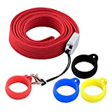 Anti-Loss Lanyard Necklace Compatible for J-uul or Similar Sized Pods System Pens Pendant Holder, Silicon Rubber Carrying Case for Daily Life, Office, Outdoor-Device Not Included(Red)
