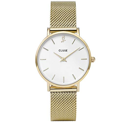CLUSE Damen Analog Quarz Smart Watch Armbanduhr mit Edelstahl Armband CLG012