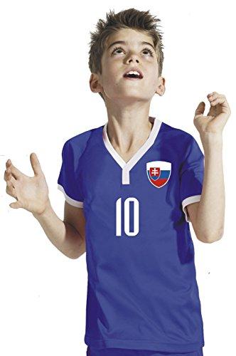 Aprom-Sports Slowakei Kinder Trikot - Hose Stutzen inkl. Druck Wunschname + Nr. GGG WM 2018 (152)