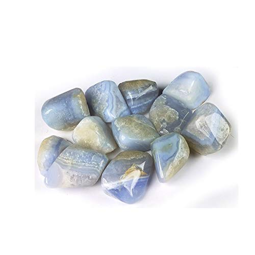 Reiki Crystal Products Natural Blue Lace Agate Tumble Stones for Reiki Healing and Vastu Correction...