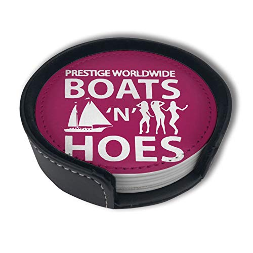 Boats N Hoes Prestige Worldwide Drinks Coasters With Holder, Suitable For Kinds Of Cups, Set Of 6