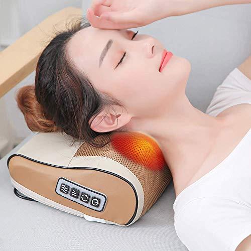 NOSSON Masajeador de Cuello para Mujer, masajeador de Cuello y Espalda Shiatsu con Almohada de Masaje térmico con Masaje de amasamiento de Tejido Profundo 3D