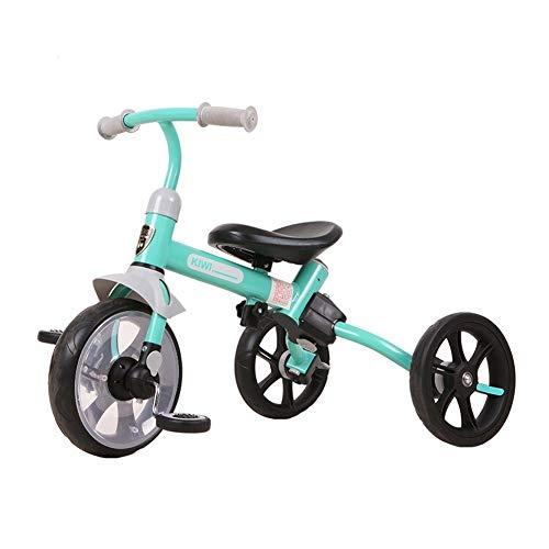 GYF Triciclo del Bebé Equilibrio del Coche Niños Bicicleta Vespa Niño Interior Y Exterior Combinación De Niño Y Niña Juguetes For Montar 3 Opciones De Color (Color : Yellow)