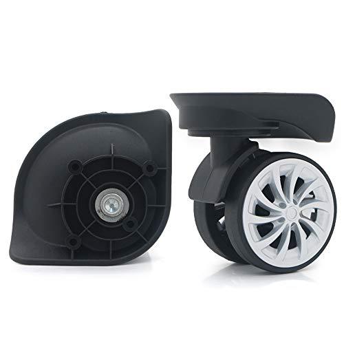崇明 1 ペア スーツケースのキャスター 取替え 代用品 交換 ホイルー スーツケースキャリーボックスなどの車輪補修用 DIY トラベルバッグラゲッジ修理 (W130)