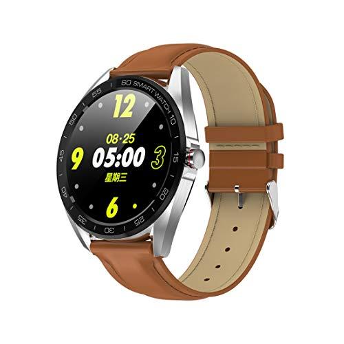 Luoshan K7 1.3 Pulgadas IPS Color Pantalla Smartwatch IP68 Impermeable, Correa de Cuero, Recordatorio de Llamadas de Soporte/Monitoreo de la frecuencia cardíaca/Monitoreo de la presión Arterial /