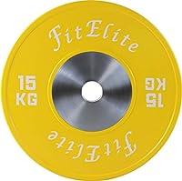 FitElite(フィットエリート)バンパープレート 2枚1組 (15KG)
