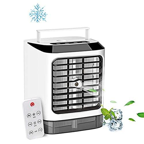 DRGRG Drgrg Aire Acondicionado Enfriadores Evaporativos Humidificadores Mini Aire Acondicionado, Ventiladores, Recarga Usb, Mesa Portátil, Mini Ventilador Para Oficina, Dispositivo De Refrig