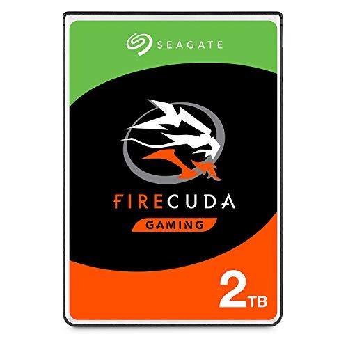 Seagate FireCuda 2 TB Hybride Festplatte intern (6,35 cm (2,5 Zoll), 7 mm dünn, SATA 6 Gb/s, silber) Modellnr.: ST2000LXZ01, FFP