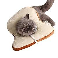 エリザベスカラー 犬猫用 傷舐め防止 傷口 保護 柔らかい かわいい 首周リ調整可能 介護 手術後 耳掻き 爪切り ピーチ アボカド パン イチゴ S~M パン M