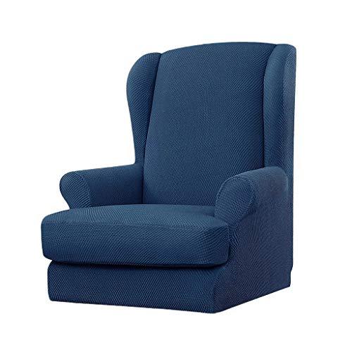 Fenteer Schonbezug Elastische Sessel + Fußbank Bezug Stretch Sofa Überwürfe Hussen Sofabezug Sesselbezug - Blau