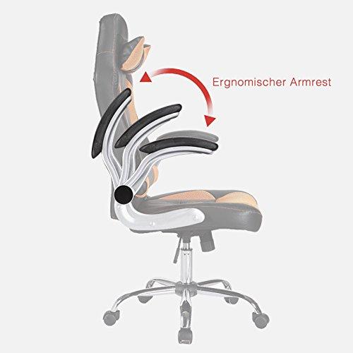 mecor Gaming Stuhl Racing Stuhl Leder Bild 3*