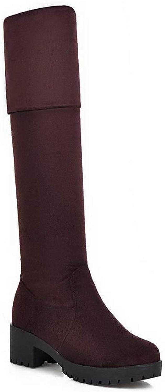 BalaMasa Womens Travel Solid Platform Urethane Boots ABL10681