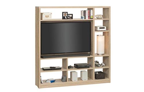 MAJA Möbel Raumteiler mit Cableboard und TV-Halterung, Holzdekor, Sonoma-Eiche, 178,30 x 40,00 x 186,10 cm