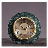 Relojes de Suelo Escritorio pequeño reloj nórdico mármol arte reloj casa sala de estar escritorio reloj de reloj dormitorio escritorio creativo luz de lujo reloj de lujo Relojes despertadores