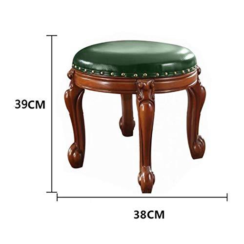 F-Home voetenbankje, massief hout, comfortabel, sofa, ergonomisch, voetenbankje, Amerikaanse retro kruk