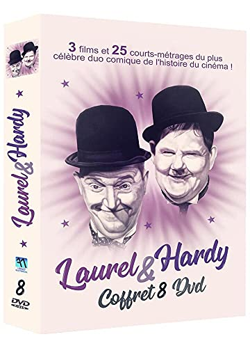 Laurel & Hardy Coffret 8DVD-3 Films et 25 Courts-métrages du Plus célèbre Duo Comique de l'histoire du cinéma