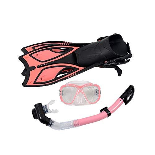 Gafas de Silicona para Adultos, Snorkel Totalmente seco, Snorkel de Aletas largasFlippers