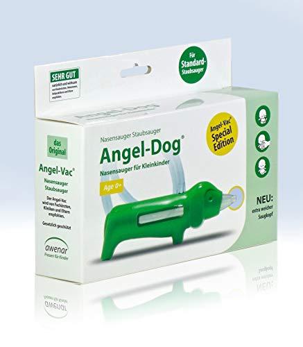 Nasensauger Baby Angel-Vac Angel-Dog für Standard Staubsauger Mit extra weichem Saugkopf Das Original seit 30 Jahren Nasensauger Baby Elektrisch
