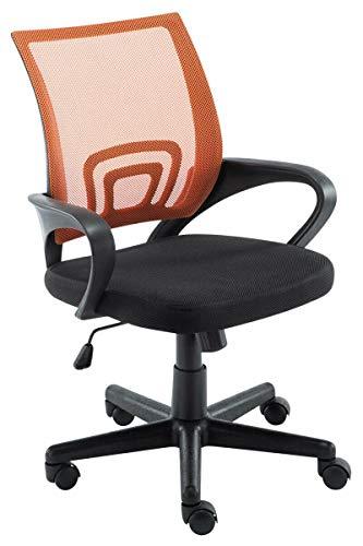 LCSA Bürostuhl Genius Farbwahl Drehstuhl Chefsessel Schreibtischstuhl Bürosessel (Color : Orange)