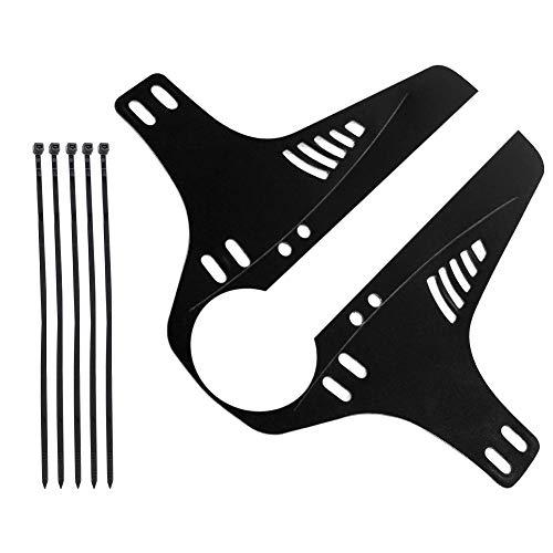 OhhGo Road Mountain Bike Rear Wheel Tire Mudguards Bicycle Mud Guard Fenders Accessory (Black)