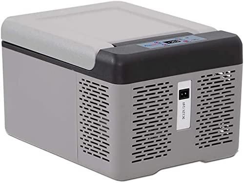 HZYGL Refrigerador portátil con congelador para automóvil 9L, vehículo, automóvil, camión, RV, Barco, Mini refrigerador con congelador para Conducir, Viajar, Pescar, 1224220 voltios