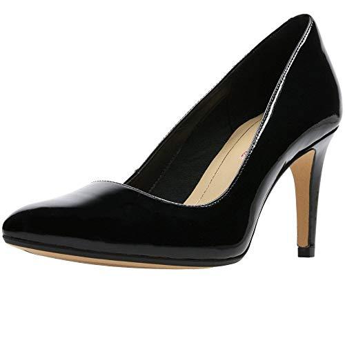 Clarks Laina RAE, Zapatos de Tacón para Mujer, Negro (Black Patent), 37 EU