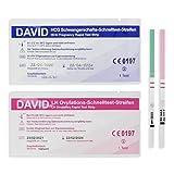 David 50x Ovulations-Test & 10x Schwangerschafts-Test - Teststreifen zur Babyplanung - Urintest bei Kinderwunsch - Pregnancy - Schnelltest - 10 miu/ml