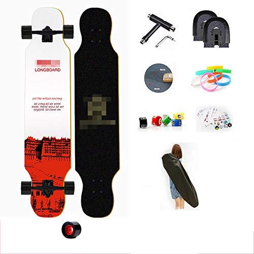 YSCYLY Vintage Skate Board,107cm Longboard Skateboard,FüR AnfäNger Und Profis