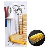 Patata a Spirale Cutter, Patate Twister Affettatrice, Taglierina Manuale a Spirale Chips Cucina Cucina Maker Frutta Verdura Tools