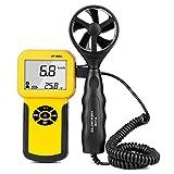 WMC Medidor de Velocidad del Viento con anemómetro Digital portátil para medir la Velocidad del Viento, la Temperatura y el Viento se enfríe con la luz de Fondo y MAX/min