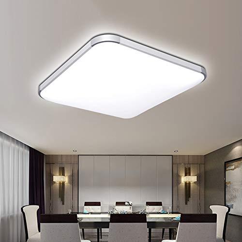 SHYPT Luz LED para el hogar, panel moderno, lámpara de techo, luz natural, blanco cálido, blanco frío, redondo, cuadrado, sala de estar, dormitorio, cocina
