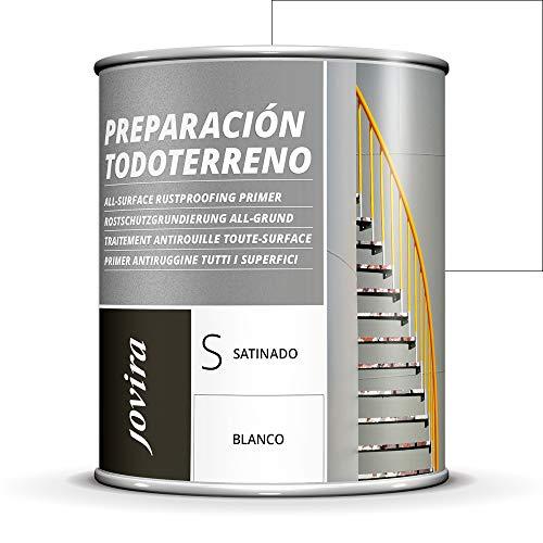 Imprimitura anti-ruggine per tutti i tipi di terreno, per PVC, alluminio, ferro, ottone, zincato, rame, zinco, 750 ml, colore: bianco