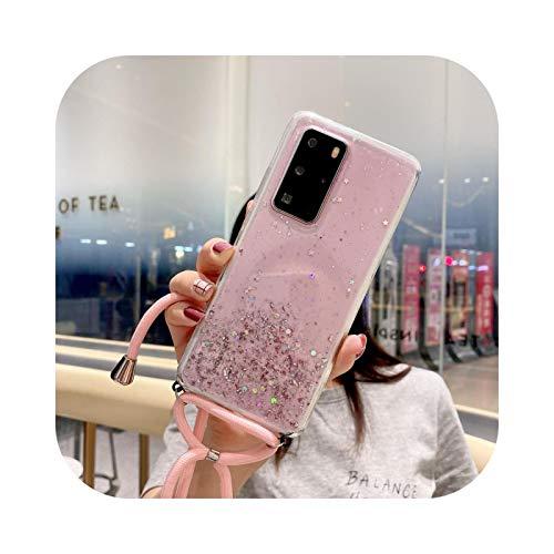 Carcasa para Huawei P20 P30 P40 Pro Mate 20 30 Honor 10I 10 I 9 Lite 8X Funda con Lentejuelas Pink-P Smart 2019