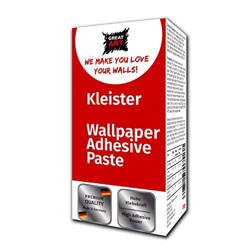 Fototapeten-Kleister von GREAT ART – zum Tapezieren Ideal für die Anbringung von Wandbildern Tapeten Postern Plakaten und Fototapeten aus Papier – hohe Klebkraft (200 g)
