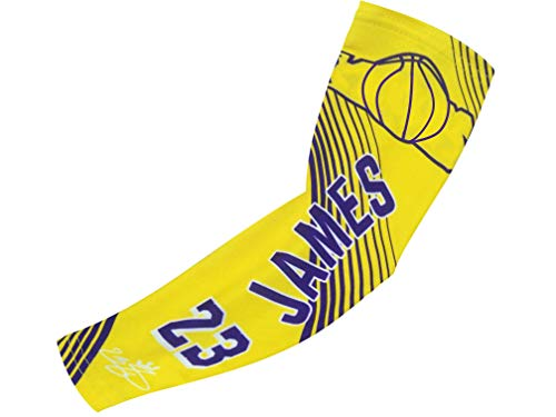 Forever Fanatics James #23 Basketball Fan Compression Shooter Sleeves ✓Breathable Apparel ✓ Muscle Recovery ✓ Improve Circulation (Youth Size (6-13 yrs), James #23)