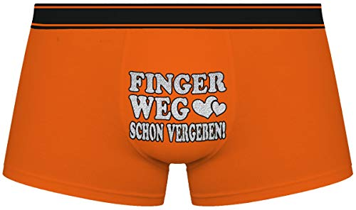 Herr Plavkin Geschenk für den Menschen | Finger Weg Schon vergeben! | Weihnachten |orange Boxershorts