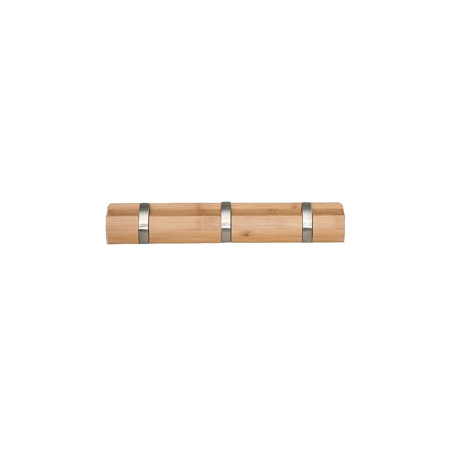 規制する支給納屋ドウシシャ 壁掛けフック ウォールハンガー3連  省スペース  ナチュラル 幅33.5×奥行2.5-5.2×高さ5.8cm W3HOOK-NA