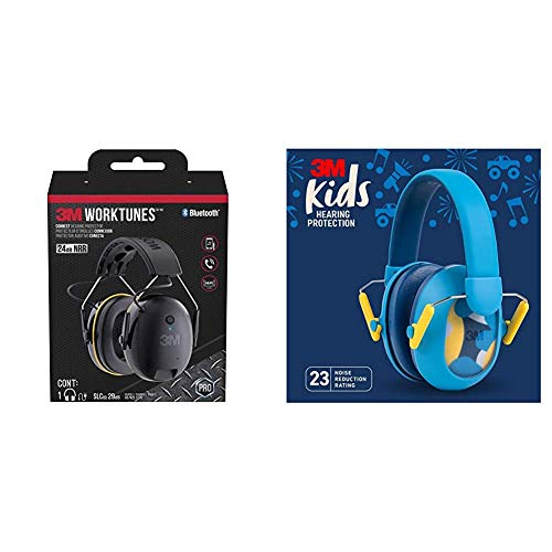 3M WorkTunes Connect Hearing Protection & 3M Kids Hearing Protection Plus, Blue