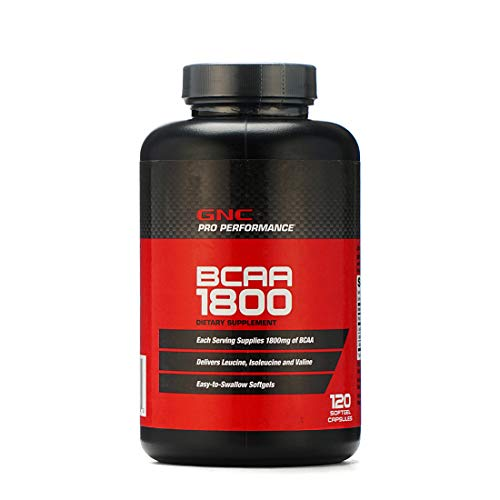 GNC Pro Perfomance BCAA 1800 / Amino Acids 1800 mg, 120 softgel Capsules