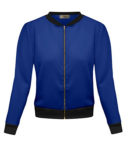Womens Bomber Jacket KJK45122 1139 ROYAL S