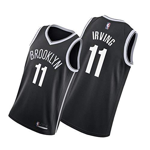 Brooklyn Nets Kyrie Irving #11 Basketball Uniform Sport Training Uniform Herren Damen Jugend Stickerei Ärmellos Casual Weste Fitness Laufen Atmungsaktiv Top Gr. M, Schwarz 3